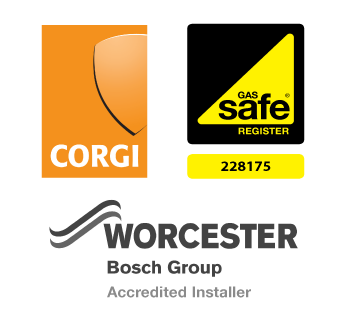 Corgi, Gas Safe Register and Worcester Bosch Group Accredited Installer Logos